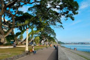 Dumaguete boulevard during covid